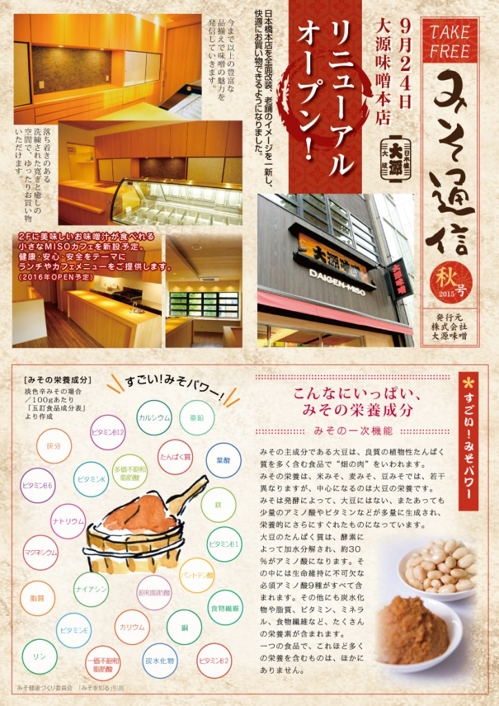大源味噌通信2015年秋号(外側)